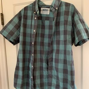 Urban Pipeline Green and Grey ShortSleeve Buttonup